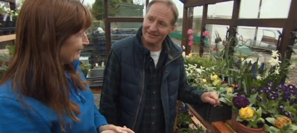 Graeme Butler and Carole Baxter in alpine house